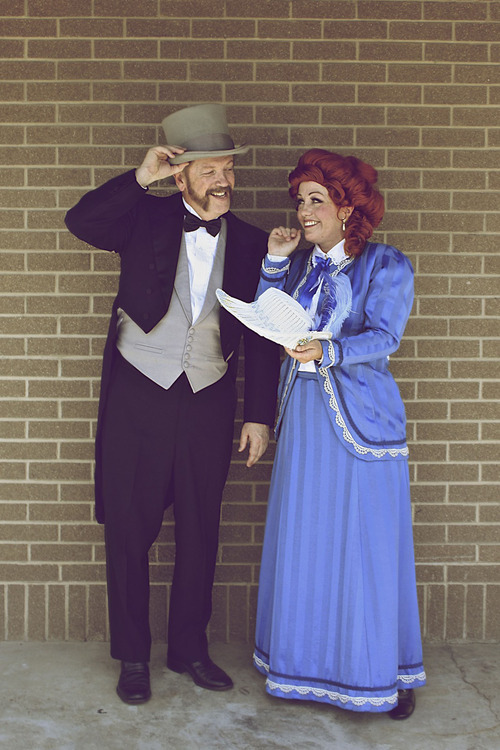 Courtesy Spencer Steggell Sara McDonald plays Dolly Levi and Galen Chatterton plays Horace Vandergelder in the Murray summer Arts in the Park production of