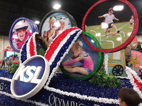 KSL's float for the Days of '47 Parade answers an age-old conundrum: How do you celebrate Utah's pioneer spirit while also shilling for the TV event that will be dominating your airwaves for the next two weeks? (Photo by Sean P. Means  |  The Salt Lake Tribune)