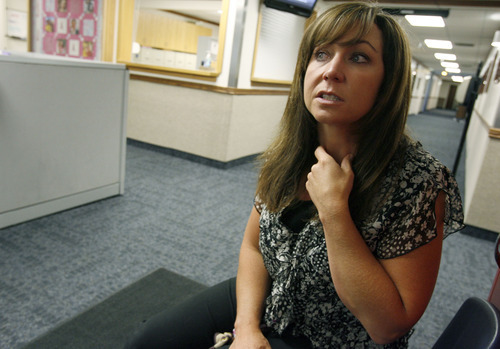 Francisco Kjolseth     The Salt Lake Tribune Kim Foy, 41, a fourth-grade teacher at Heber Valley Elementary school in Heber City, was sick for weeks before she was finally diagnosed with pertussis, also known as whooping cough. Utah is in the midst of an outbreak of the disease, which can be fatal for babies.