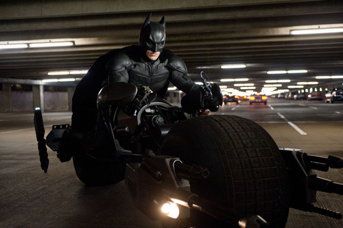 This undated film image released by Warner Bros. Pictures shows Christian Bale as Batman in a scene from the action thriller