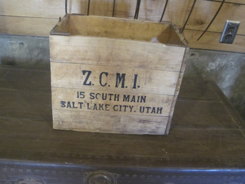 Tom Wharton | The Salt Lake Tribune An old ZCMI crate at Garr Ranch.