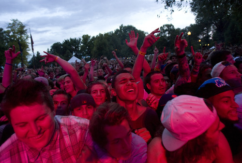 Kim Raff   The Salt Lake Tribune Nas performs during the Twilight Concert Series at Pioneer Park in Salt Lake City, Utah on July 19, 2012.