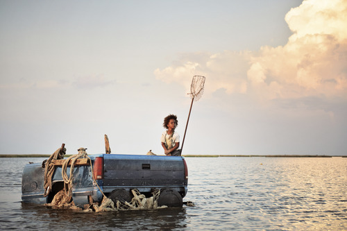 Courtesy photo Hushpuppy (Quvenzhané Wallis) rides the family's raft in a scene from