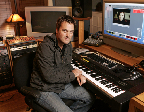 Contemporary gospel singer Michael W. Smith is shown in his Franklin, Tenn.,  studio Dec. 3, 2007. (AP Photo/Mark Humphrey)