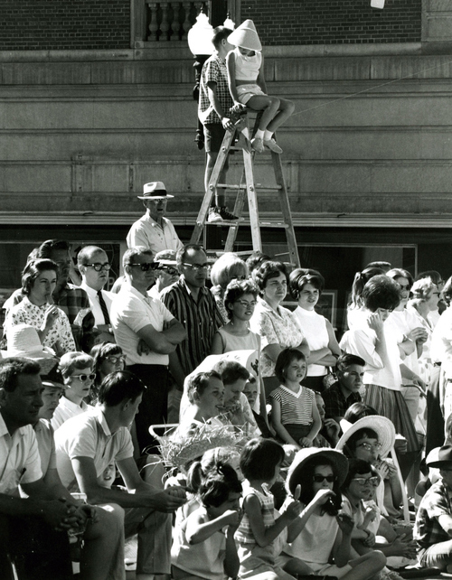 Spectators at the 1964 Days of '47 parade in Salt Lake City.