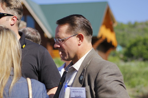 Ken Ivory attends Rocky Mountain Conservatives barbecue held at Greg Peterson's cabin near Heber on July 1, 2011.