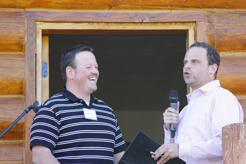Carl Wimmer is seen with Greg Peterson at the second Rocky Mountain Conservatives barbecue held at Peterson's cabin near Heber on July 1, 2011.
