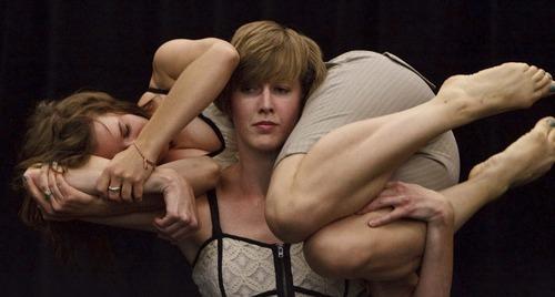 Leah Hogsten  |  The Salt Lake Tribune Shira Fagan and Jane Jackson rehearse