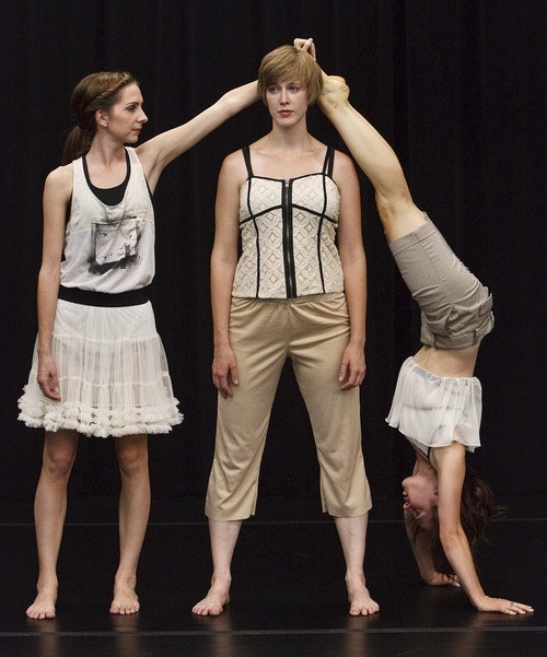 Leah Hogsten  |  The Salt Lake Tribune Anne Marie Smock, Shira Fagan and Jane Jackson rehearse