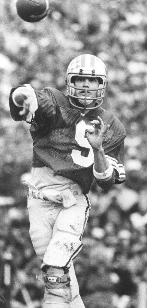 Jim McMahon, BYU quarterback in the 1980s. Salt Lake Tribune archive photo