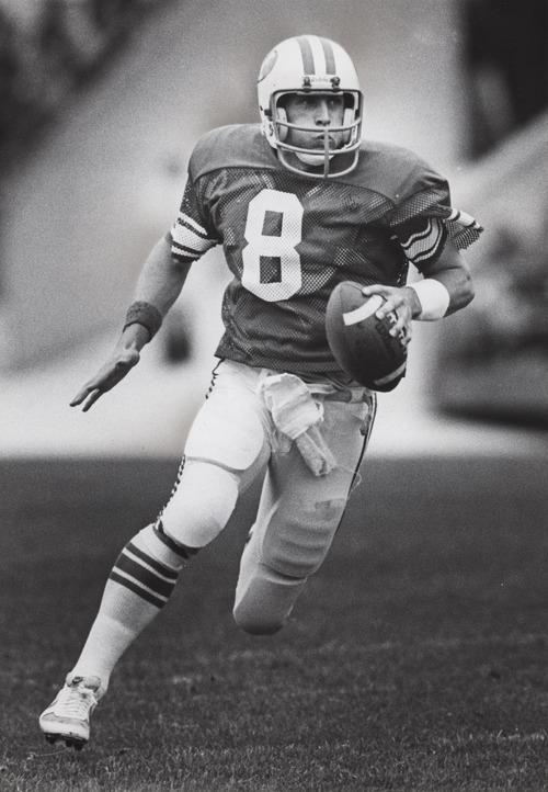 Steve Young, BYU quarterback.  Received October 9, 1982.