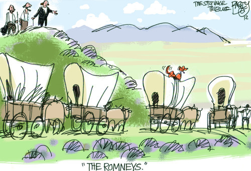 This Pat Bagley editorial cartoon appears in The Salt Lake Tribune on Tuesday, July 24, 2012.
