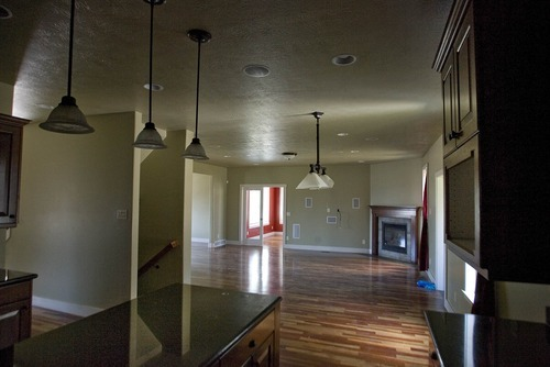 Paul Fraughton | The Salt Lake Tribune A bank owned house in Daybreak has an open floor plan.