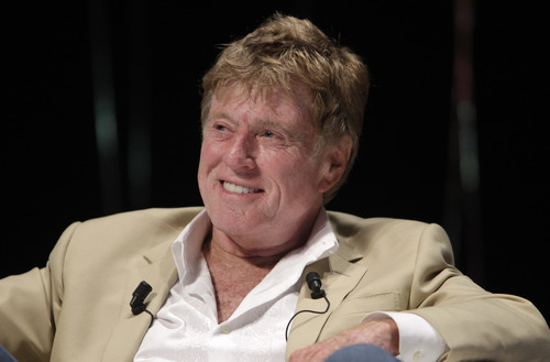 American actor, film director, producer Robert Redford is seen during a speech at the Cannes Lions 2009, 58th International Advertising Festival in Cannes, southern France, Tuesday, June 21, 2011. The Cannes Lions International Advertising Festival is a world's meeting place for professionals in the communications industry.(AP Photo/Lionel Cironneau)