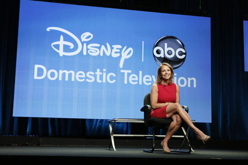 Katie Couric attends the Disney ABC panel for