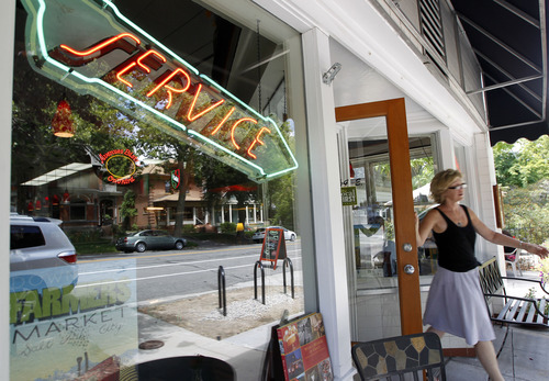Al Hartmann  |  The Salt Lake Tribune   Avenues Bistro on Third in the heart of the Avenues has a quirky, personal touch and a focus on fresh, seasonal and local.  The service sign in the window is an orginal neon sign from the first gas station on the Avenues.