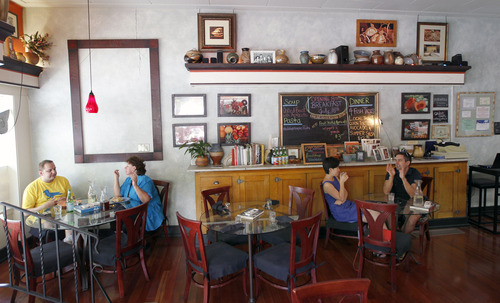 Al Hartmann  |  The Salt Lake Tribune   Avenues Bistro on Third features an original soda fountain counter, relaxed tables and an outdoor patio.