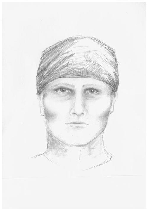 A composite sketch of a rape suspect who attacked a woman along a bike path in May. Courtesy St. George Police Department.