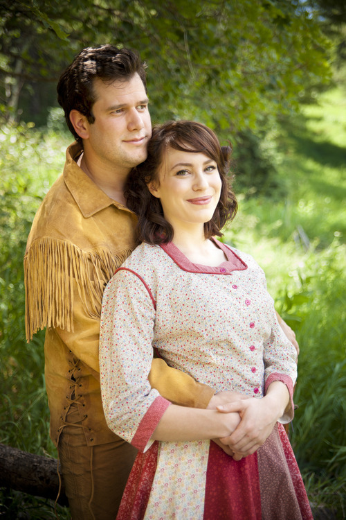 Kevin Goertzen and Jenny Latimer as Adam and Milly in the University of Utah and Sundance Summer Theatre's production of