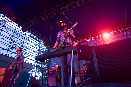Kim Raff | The Salt Lake Tribune Band of Horses performs at the Twilight Summer Concert Series at Pioneer Park in Salt Lake City, Utah on July 26, 2012.