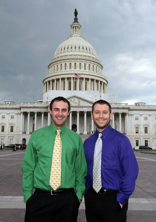 Rick Egan    The Salt Lake Tribune   Tribune reporters, Tommy Burr  and Matt Canham in Washington D.C., Wednesday, June 6, 2012.