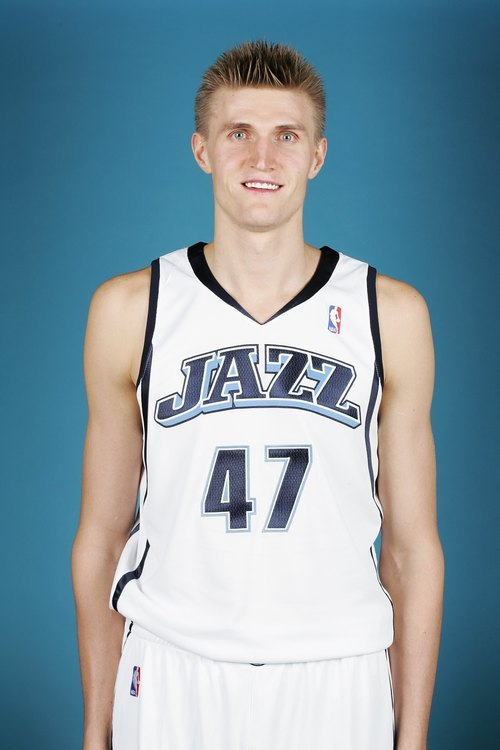 SALT LAKE CITY - OCTOBER 1:  Andrei Kirilenko #47 of the Utah Jazz poses for a portrait during NBA Media Day at Zions Bank Basketball Center on October 1, 2007 at the Open Court in Salt Lake City, Utah.  NOTE TO USER: User expressly acknowledges and agrees that, by downloading and or using this Photograph, user is consenting to the terms and conditions of the Getty Images License Agreement. Mandatory Copyright Notice: Copyright 2007 NBAE (Photo by Melissa Majchrzak/NBAE via Getty Images)