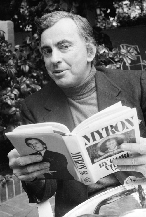 FILE - This 1977 file photo shows author Gore Vidal. Vidal died Tuesday, July 31, 2012, at his home in Los Angeles. He was 86. (AP File Photo)