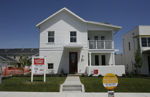 Scott Sommerdorf  |  The Salt Lake Tribune              Advance of Salt Lake Parade of Homes, which begins Friday, August 3rd. Garbett Homes has one home in the parade this year in the Daybreak subdivision in South Jordan. It's priced at 236,000, is solar powered and has some other interesting features.