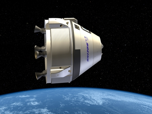 This undated artist illustration provided by Boeing shows the Crew Space Transportation (CST)-100. NASA has picked three aerospace companies to build small rocketships to take astronauts to the International Space Station. This is the third phase of NASA's efforts to get private space companies to take over the job of the now-retired space shuttle. The space agency is giving them more than $1.1 billion. Two of three ships are capsules like in the Apollo era and the third is a lifting body that is closer in design to the space shuttle. (AP Photo/Boeing)
