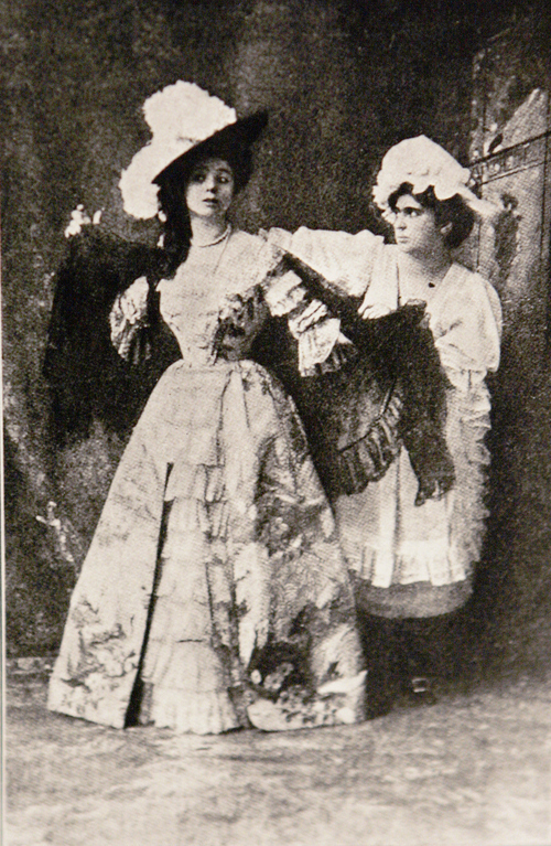 Photo Courtesy of the Utah Historical Society   Utah acting pioneer Maude Adams, left, as Lady Babbie in