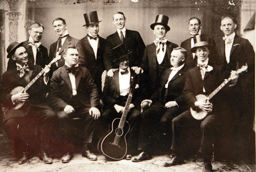 Photo Courtesy of the Utah Historical Society   Minstrels at Richfield.