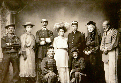 Photo Courtesy of the Utah Historical Society   Richfield, Utah dramatic group in an unknown play.