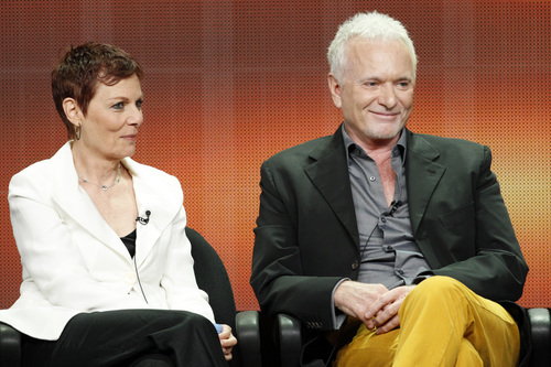 Jane Elliott and Tony Geary addressed the press at Disney/ABC Television Group's Summer Press Tour. Courtesy photo