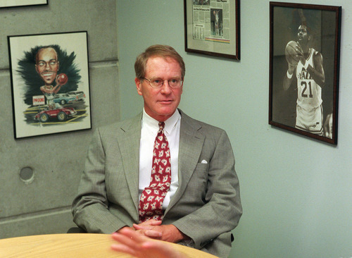 Al Hartmann  |  The Salt Lake Tribune  Kevin O'Connor when he was the new VP of Basketball Operations with the Jazz in 1999.