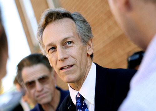 Shown in this November 2008 file photo, Virgil Goode will be stumping in Utah this week as the Constitution Party's presidential nominee. Some believe the former Virginia congressman could be a spoiler for the Mitt Romney campaign in that state.  (AP Photo/The Roanoke Times, Sam Dean, File)