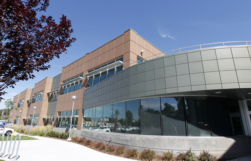 Al Hartmann  |  The Salt Lake Tribune   Innovations High School at 1700 South and State Street will open this Fall.  The new building will connect to the Salt Lake Community College campus next door.