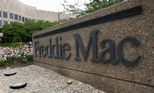 FILE - In this July 13, 2008 file photo show the Freddie Mac headquarters in McLean, Va. Freddie Mac posted a gain for the second quarter and isn't requesting any additional federal for the period.  McLean, Va.-based Freddie Mac said Tuesday, Aug. 7, 2012 that its net income attributable to common shareholders was $1.2 billion, or 37 cents per share, in the April-June period.  (AP Photo/Pablo Martinez Monsivais)