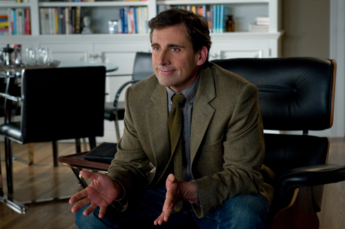 This film image released by Columbia Pictures shows Steve Carell as Dr. Bernard Feld in a scene from