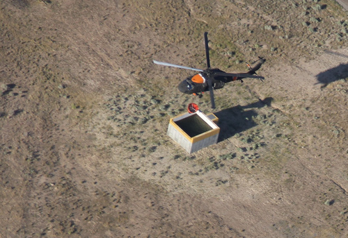 Water-bearing helicopters, air tankers and more than 200 firefighters were battling the lightning-caused Pinyon Fire near Eagle Mountain on Tuesday. Courtesy Utah National Guard