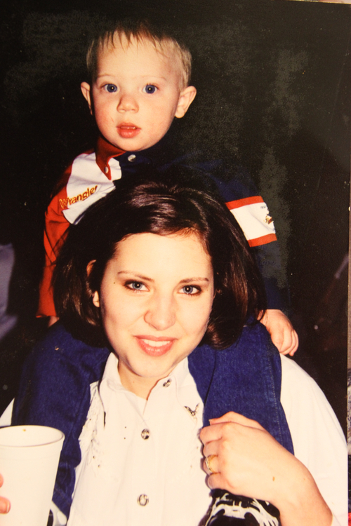 Susan Powell with her nephew, Devin. (Courtesy of Denise Cox)