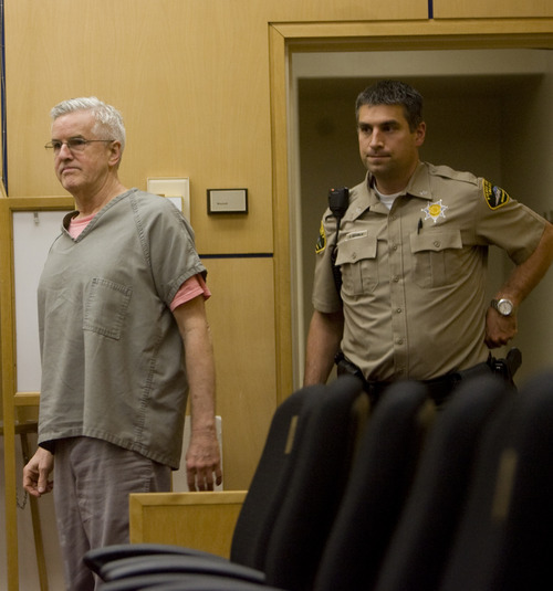 Kim Raff | The Salt Lake Tribune Steve Powell walks into a sentencing hearing for his conviction on 14 felony counts of voyeurism in the Pierce County Superior Court in Tacoma, Washington on June 15, 2012.
