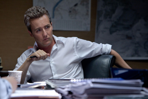 This film image released by Universal Pictures shows Edward Norton as Ret. Col. Eric Byer in a scene from