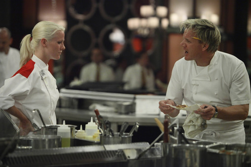 Chef Gordon Ramsay yells at a contestant on