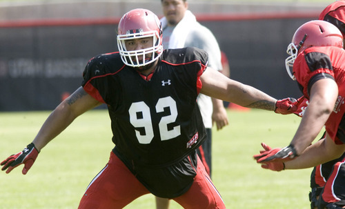 Paul Fraughton  |  The Salt Lake Tribune Star Lotulelei at Utah's practice Tuesday, August 7, 2012.