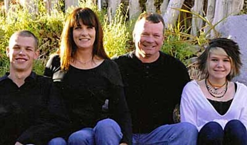 Josie Greathouse Fox, second from left, with her son, Spencer, her husband, Doug Fox and her daughter, Hunter.  Courtesy: Cindy Greathouse
