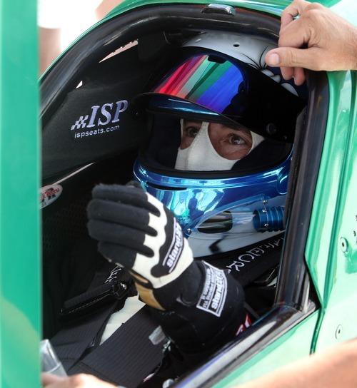 Rick Egan   |  Tribune file photo Rick Pearson prepares for a run on the Salt Flats in his car