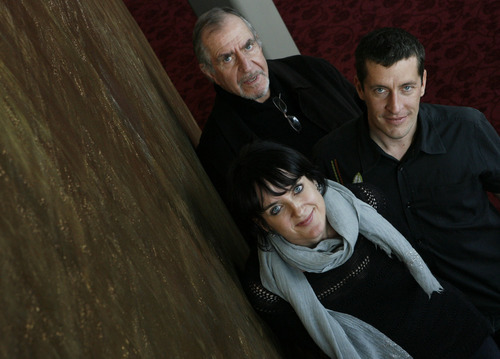 Francisco Kjolseth  |  The Salt Lake Tribune archive Ririe-Woodbury artistic director Charlotte Boye-Christensen, front, photographed in 2010 with collaborators writer David Kranes, back left, and architect Nathan Webster.