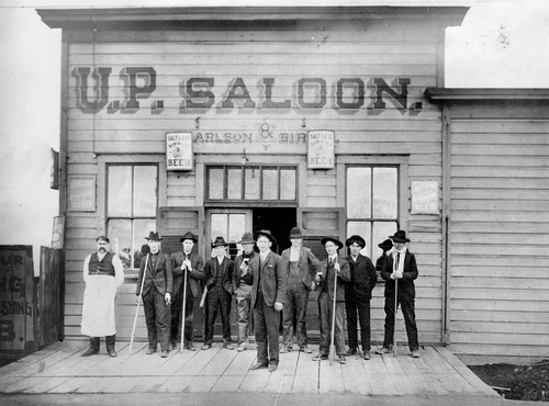 The U.P. Saloon in Murray, Utah 1906. Salt Lake Tribune archives