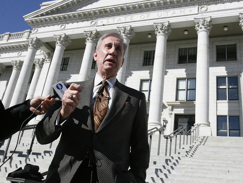 Scott Sommerdorf  |  Tribune file photo            Democratic governor nominee Peter Cooke said he departs from the national Democratic Party in its support for gay marriage -- which he opposes. He also does not advocate civil unions.