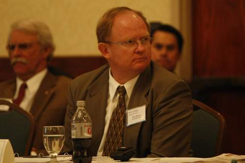 Photo by Chris Detrick  |  Tribune file photo Dan Shrum, of EnergySolutions, listens during a Nuclear Regulatory Commission workshop in this 2009 file photo. The Utah Senate on Wednesday yielded to public pressure and held off on his confirmation to the state Radiation Control Board.